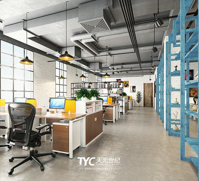 米兰春天 工业风办公室装修设计|工业风也能盛开出春天