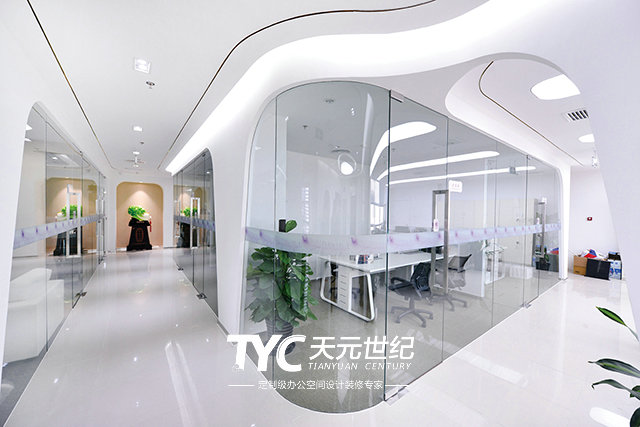 办公室装修设计中的分隔封闭式空间